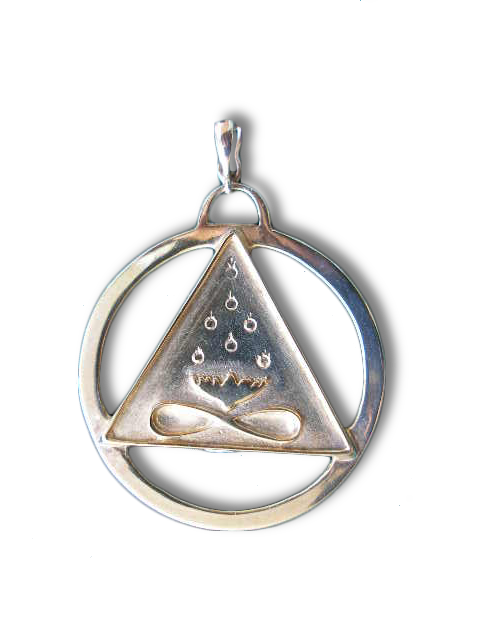 Large Cut-Out Cosmic Trinity Medallion