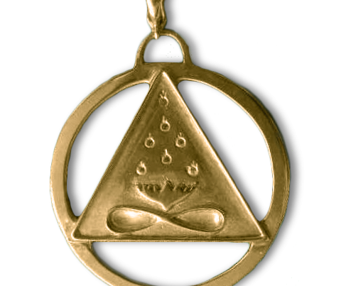 Large Cosmic Trinity Medallion (Gold)