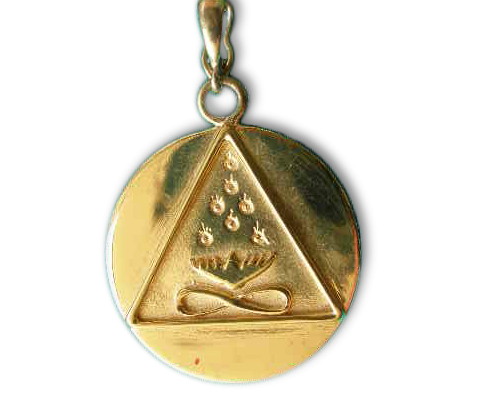 Small Cosmic Trinity Medallion (Gold)