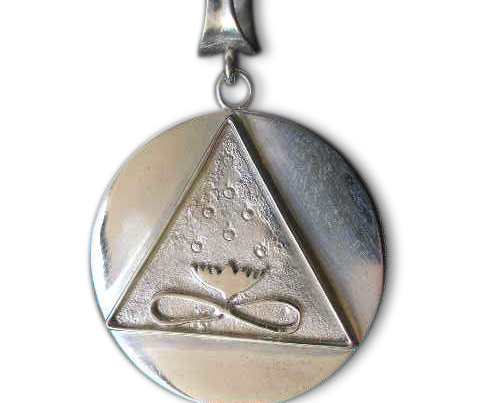 Large Cosmic Trinity Medallion (Silver)