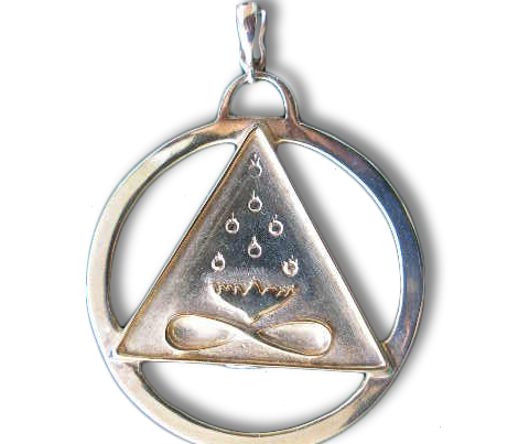 Large Cut-Out Cosmic Trinity Medallion (Silver)
